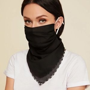 Accessories - RESTOCKED Black Scarf Face Mask